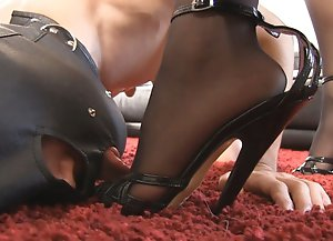 Slave Mouth Fucking with Stiletto