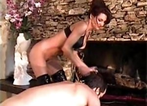 Dominatrix Makes Her Guy Lick Her Boots!