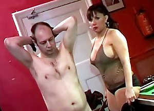 Enter its long dark gallery stacked with hot femdom movie featuring shy obedient slave spanked by his mistress