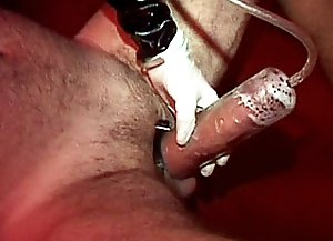 This enslaved man can't live without painful pleasure and cock waxing