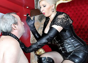 Take It For Me  -  Mistress Johanna / Smoking / Leather Fetish / Humiliation / Spitting